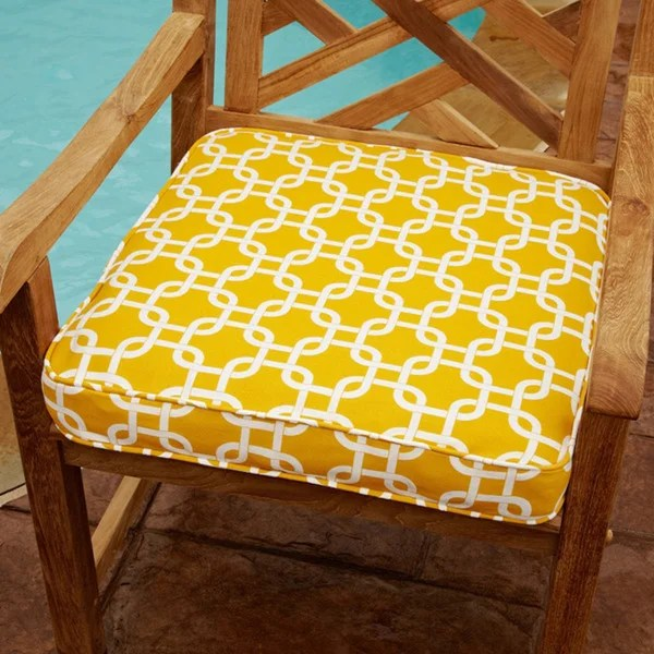 Shop Penelope Yellow 20inch Square Outdoor Chair Cushion  On Sale  Free Shipping Today