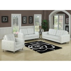 Alicia Two Tone Modern Sofa And Loveseat Set Grey Corner Lounge Ideas Megan White Bonded Leather ...