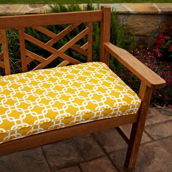 Shop Penelope Yellow 48 Inch Outdoor Bench Cushion On