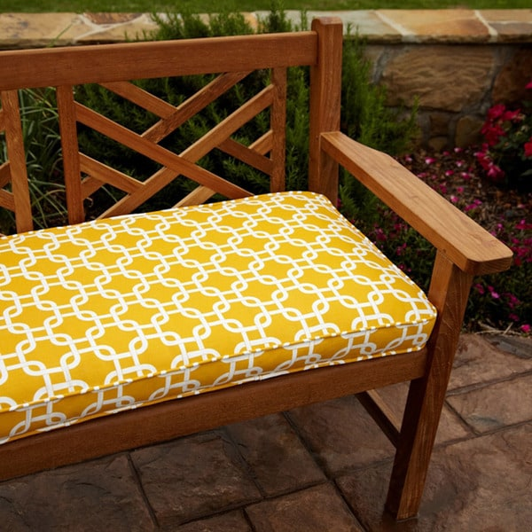 Shop Penelope Yellow 60 Inch Outdoor Bench Cushion Free