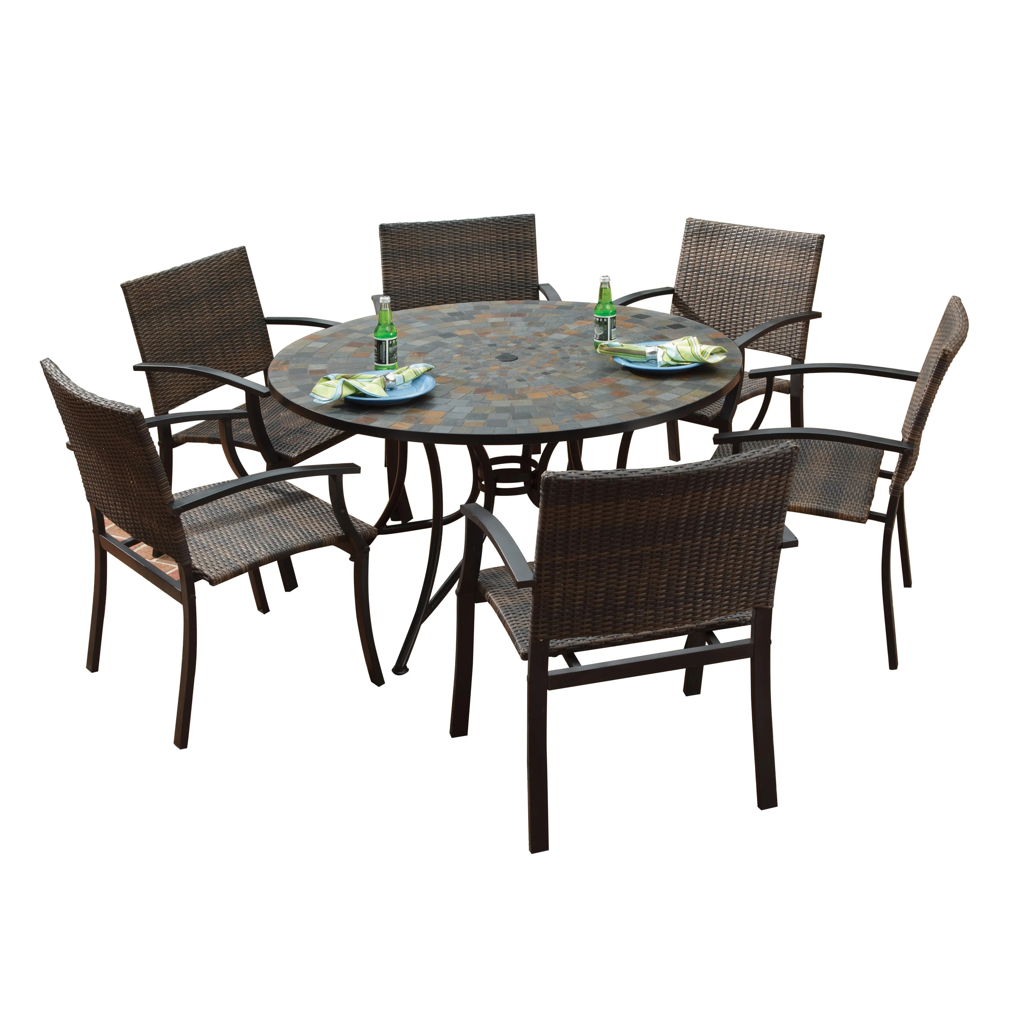 large round patio table and chairs french dining melbourne stone harbor newport arm