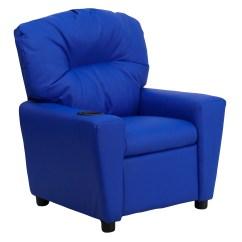Blue Recliner Chair Ergonomic Kneeling Benefits Flash Furniture Contemporary Vinyl Kids With