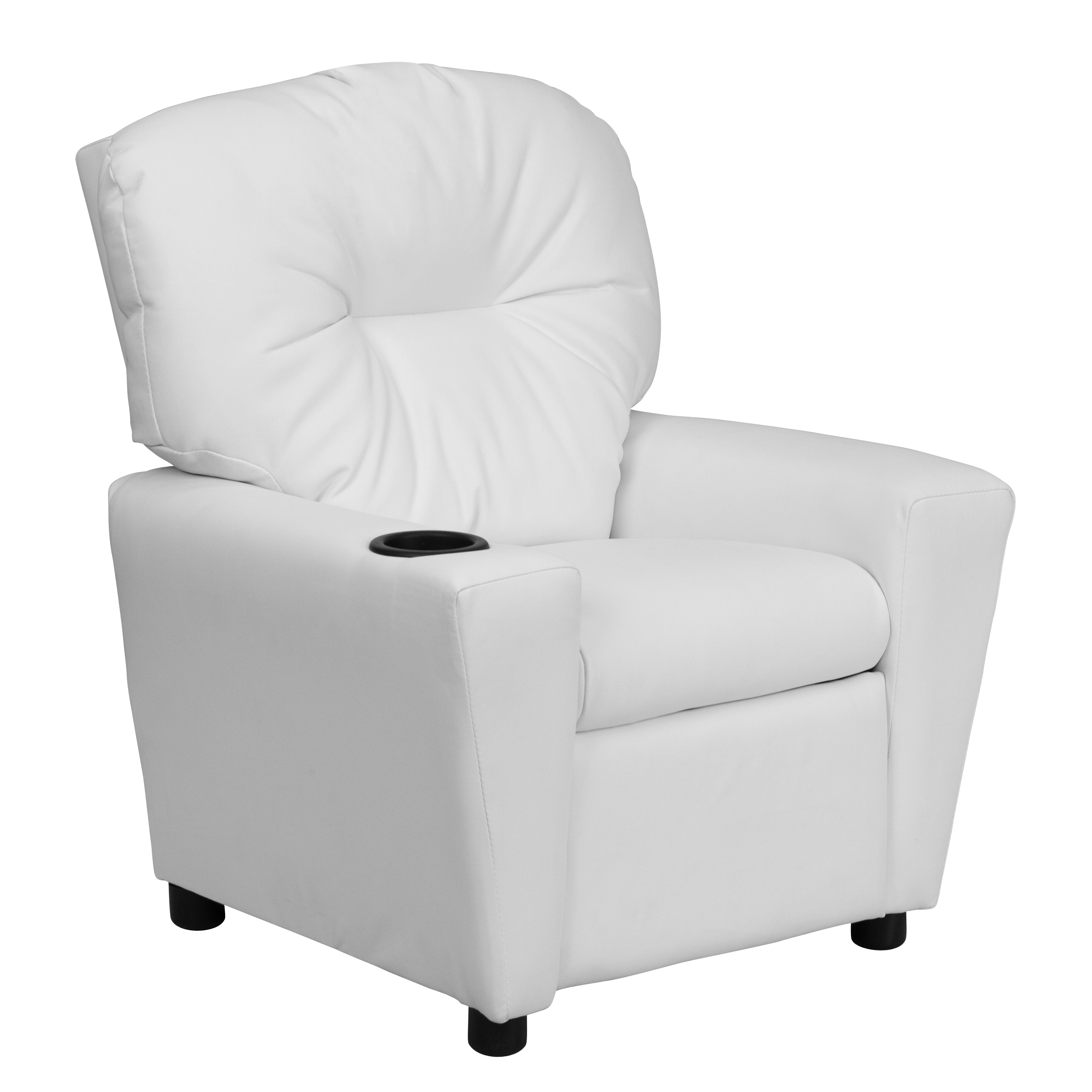 kid recliner chair burke chairs for sale shop flash furniture contemporary white vinyl kids