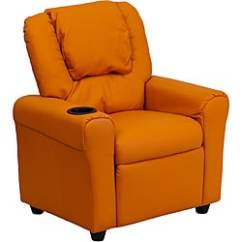 Plastic Toddler Chair French Bedroom Nz Buy Orange Kids Chairs Online At Overstock Com Contemporary Vinyl Recliner With Cup Holder And Headrest