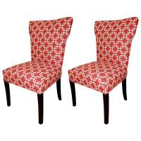 Shop Bella Red Wing Back Chairs (Set of 2)