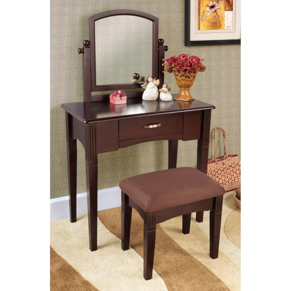 Espresso Finish Three-piece Vanity Set - Free Shipping Today 14257751