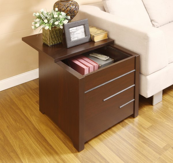 End Table with Hidden Storage
