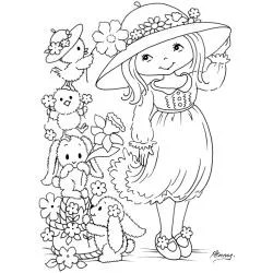 Stampavie Penny Johnson 'Hat Decorating' Clear Stamp