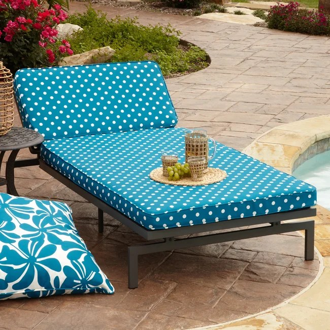 chaise lounge chair cover towel ikea reading alyssa blue dot adjustable outdoor with corded cushion - overstock shopping great deals ...