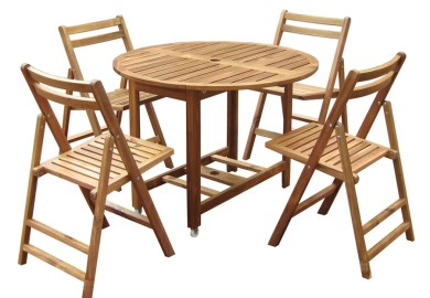 Bamboo Round Dining Table