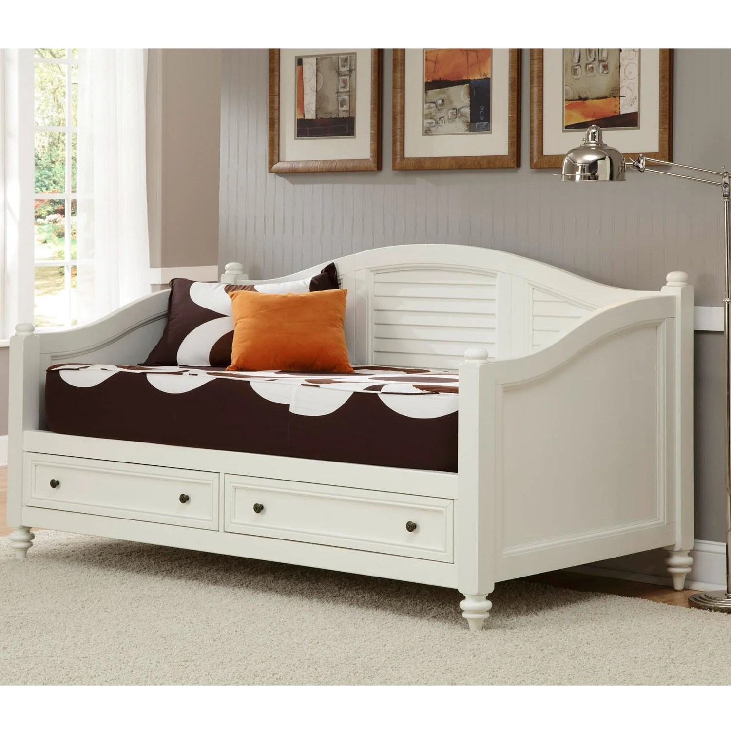 Home Styles Bermuda Brushed White Finish Twin Size DayBed 14270802 Shopping