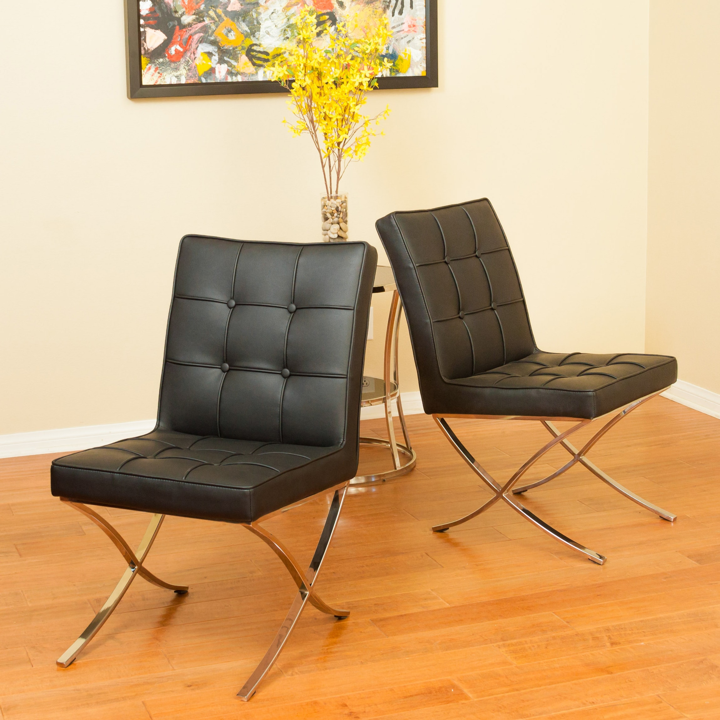 christopher knight leather chair tiger oak dining chairs home milania black