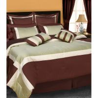 Vienna 8-piece Luxury Colorblock Comforter Set - Free ...