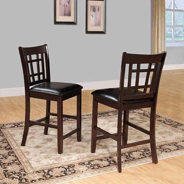 24 inch counter chairs chair cover rentals for 1.00 shop banbury dark cherry mission high back stools set of 2
