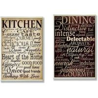Shop Dining Words' and 'Kitchen Words' 2-piece Typography ...