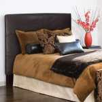 Slip Covered Full Queen Black Faux Leather Headboard On Sale Overstock 6753195