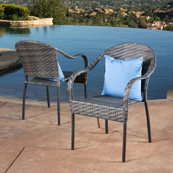 wicker chair for sale ergonomic upper back pain shop sunset outdoor tight weave set of 2 by christopher knight home