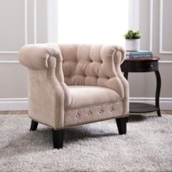 Farmhouse Living Room Chairs With Couch And Four Buy Cream Online At Overstock Com Abbyson Cabo Fabric Nailhead Trim Armchair