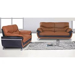 Alicia Two Tone Modern Sofa And Loveseat Set Calia Italia Gold Two-tone - Free ...