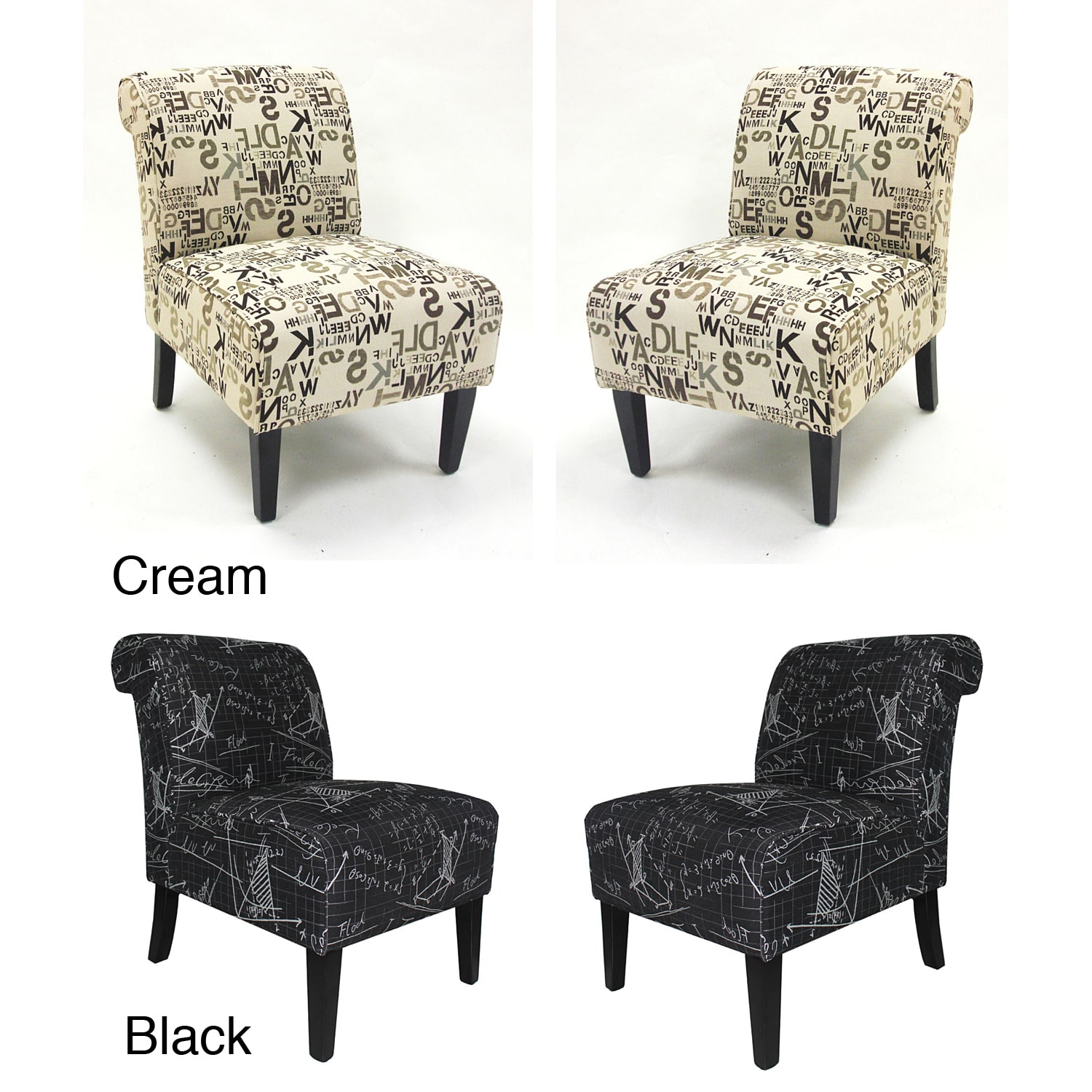 Set Of Accent Chairs Modern Accent Chairs In Architectural Fabric Set Of 2
