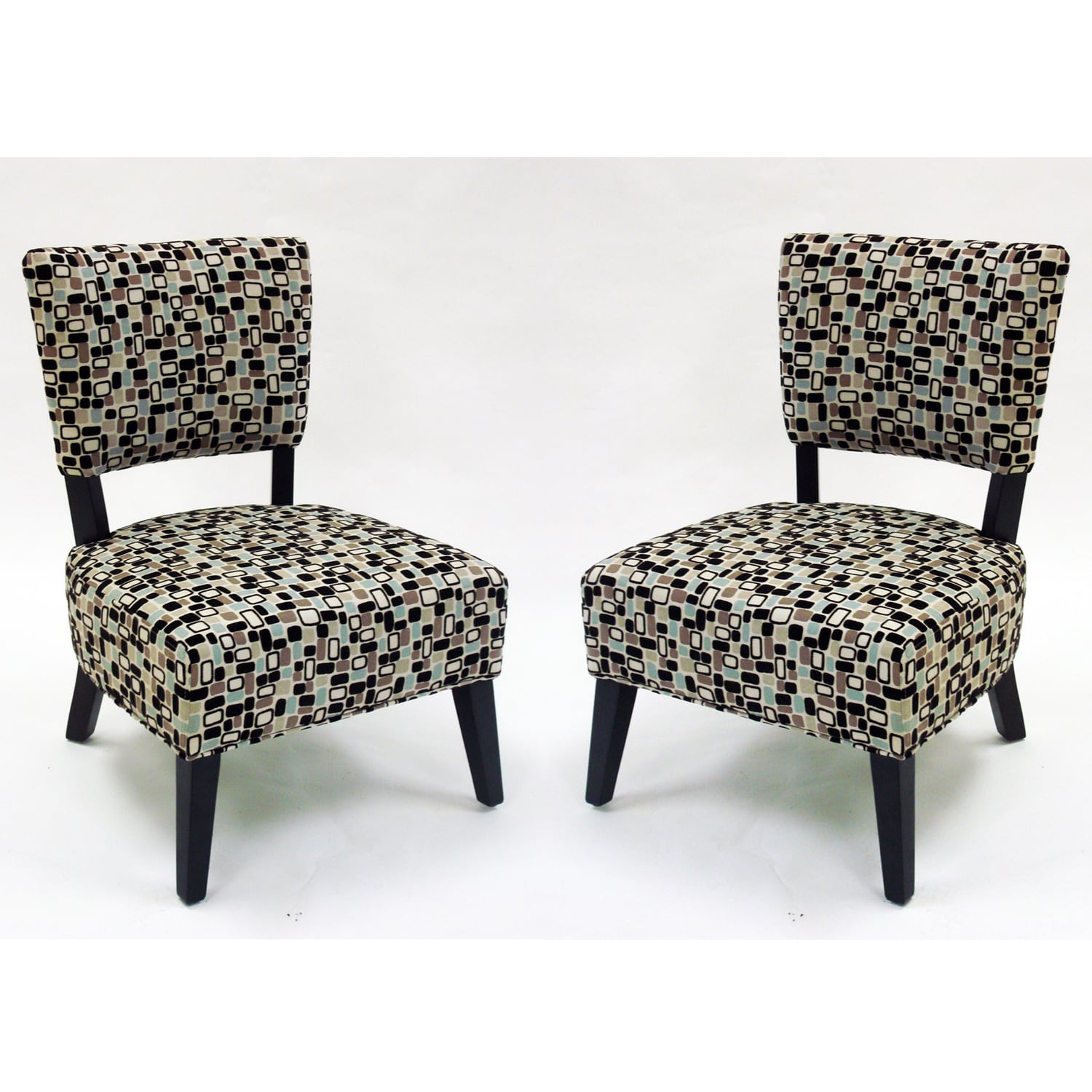 overstock com chairs u shaped chair glides geometric fabric modern accent set of 2 free