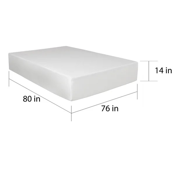 Select Luxury Medium Firm 14 Inch King Size Gel Memory Foam Mattress Free Shipping Today 14338443