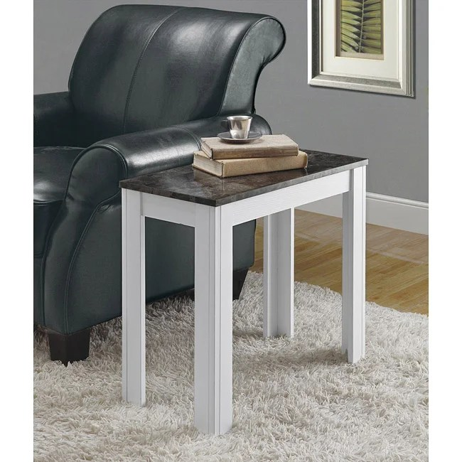moroccan sofa base modern sofas houston texas white/ grey marble accent side table - free shipping today ...