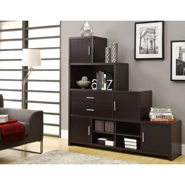 Cappuccino Step Design Bookcase - 14344664 Shopping Great Deals Media