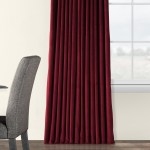 Exclusive Fabrics Burgundy Velvet Blackout Extra Wide Curtain Panel On Sale Overstock 6811702