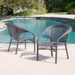 Fan Back Wicker Chair Folding Captains Chairs For Boats Shop Maria Dark Grey Outdoor Club Set Of 2 By Christopher