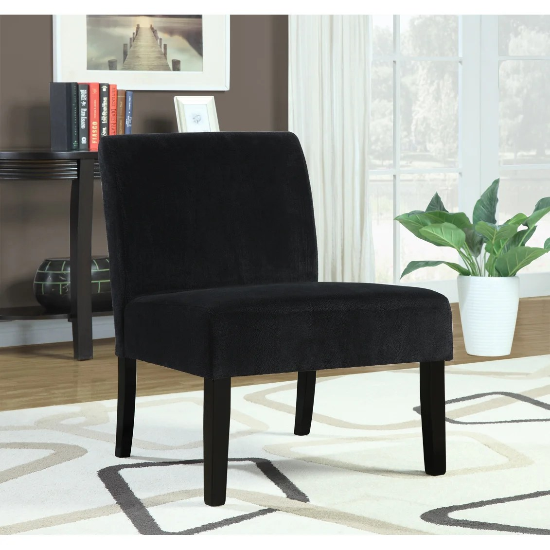 Black Velvet Chair Black Crocodile Velvet Accent Chair 14349421 Overstock