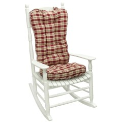 Oversized Rocking Chair Cushions Wheelchair Parts Ruby Plaid Jumbo Cushion Overstock