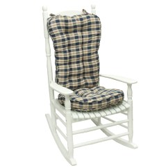 Oversized Rocking Chair Cushions Folding Beds Uk Shop Navy Plaid Jumbo Cushion Free Shipping Today Overstock Com 6822843