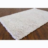 Shop Hand-woven Safir White Shag Rug (3' Round) - 3' - On ...