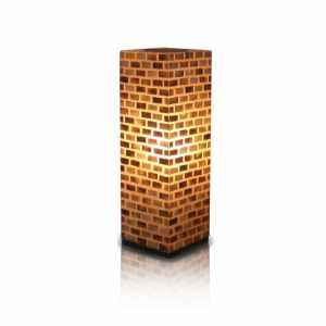 East At Main's Decorative Beige Contemporary Valentti Square Table Lamp