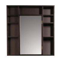 Shop Red Mahogany Medicine Cabinet/ Double Sided Mirror ...