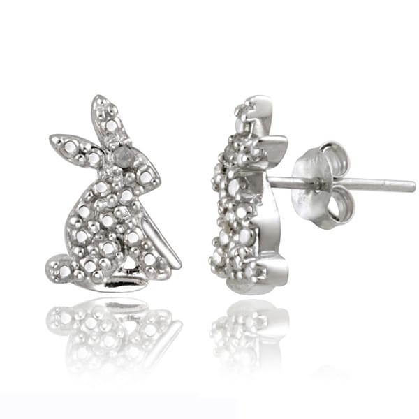 Shop DB Designs Sterling Silver Diamond Accent Rabbit