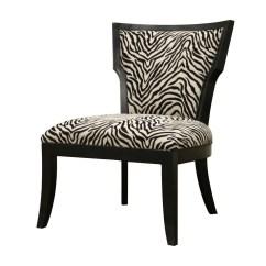 Animal Print Accent Chair Easy Yoga Courtney Modern Zebra Pattern Club 13097334
