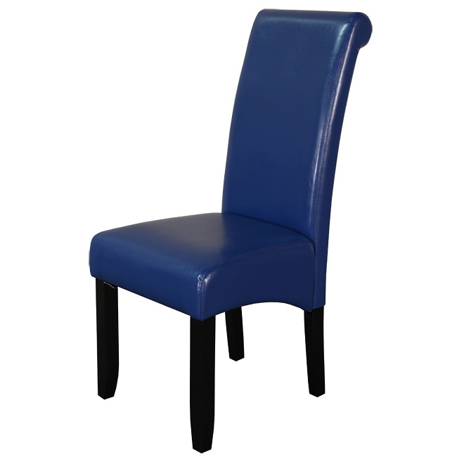 Monsoon Blue Faux Leather Dining Chairs Set of 2  Free