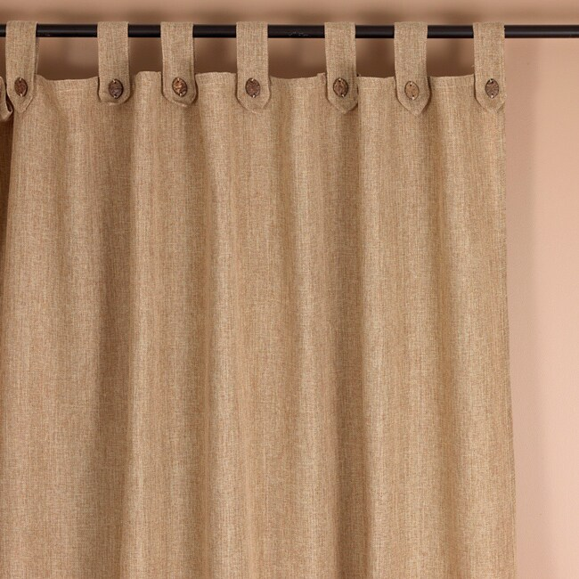 Classic Natural Tab Top 94 Inch Curtain Panel Free Shipping