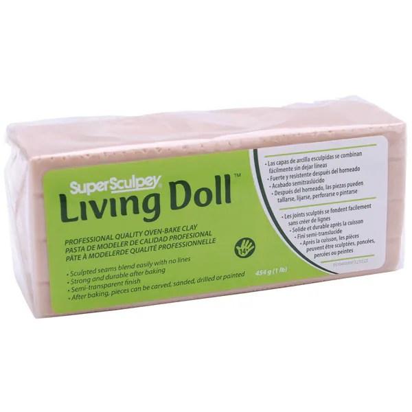super sculpey living doll clay 1 pound beige 14491918 overstock