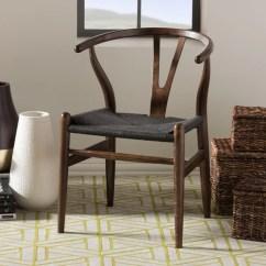 Dark Brown Wooden Dining Chairs Armless Slipper Chair Shop Carson Carrington Akaa Wood Y Set Of 2