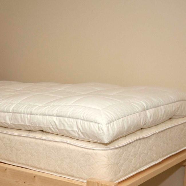 Nanotex Twin XLsize Hypoallergenic Pillow Top Fiber Bed