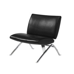 Modern Accent Chairs Sofa And Chair Company Accessories Shop Black Leather Look Chrome Metal Free Shipping Today Overstock Com 6996614