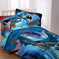 Batman 5 piece Bed Bag Sheet Set Sheets Kids New Comforter ...