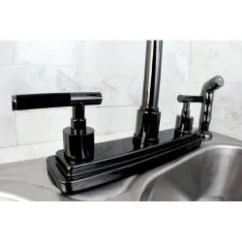 Two Handle Kitchen Faucet Countertops Orlando Shop Black Nickel Free Shipping Today Thumbnail