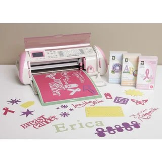 Shop Cricut Pink Expression Die Cutting Machine with 3 cartridges Breast Cancer Limited Edition