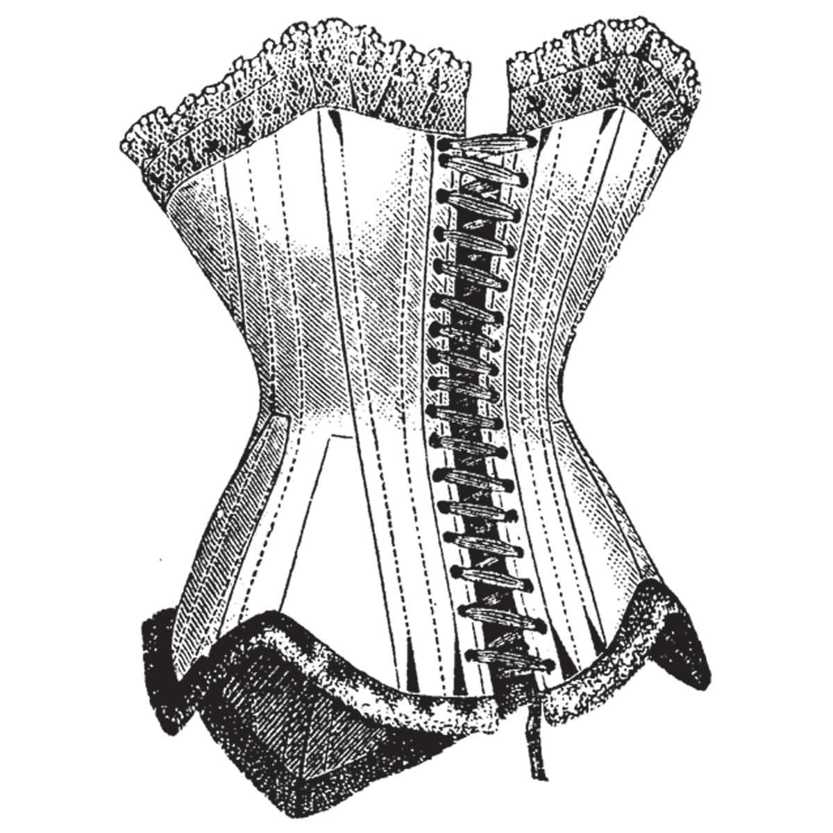 Mounted Rubber Stamp 2 5 X2 Corset