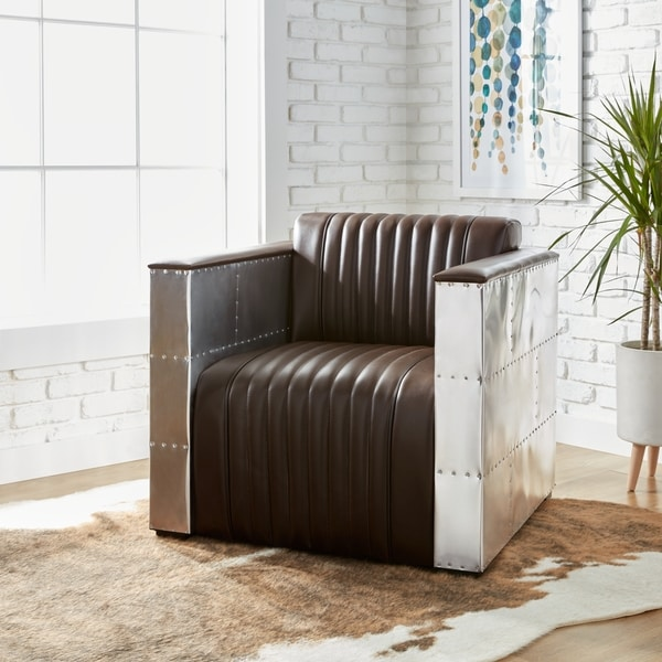 dark brown leather chair hanging egg with stand shop strick bolton vindicator modern on amp