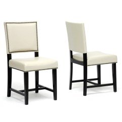 Overstock Com Chairs Western Rocking Chair Baxton Studio Nottingham Cream Faux Leather Modern Dining